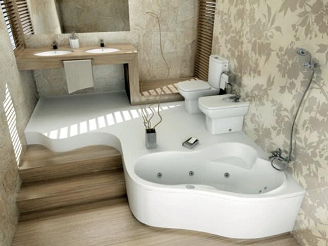Оклейка обоями стен в ванной комнате