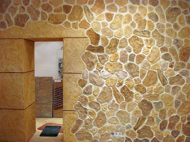 Имитация камня на стене своими руками из штукатурки 45