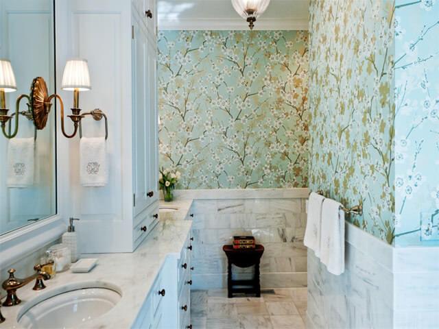 Отделка стен в ванной комнате материалы