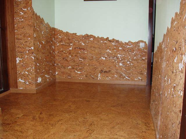 Пробковые стеновые панели