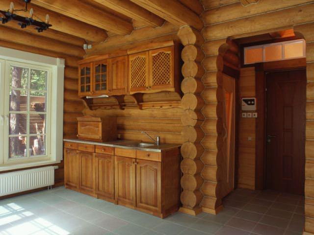 дома из бревна фото внутри дома