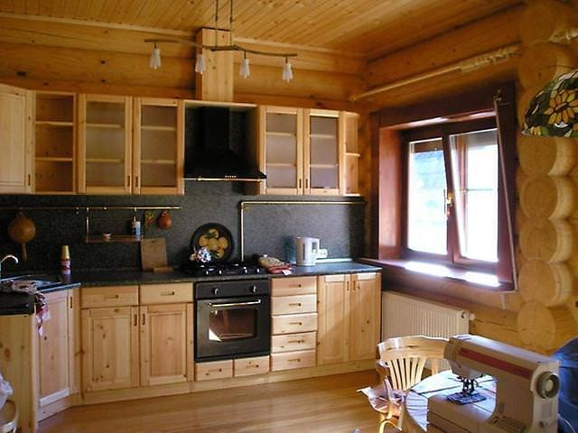 Ремонт на кухне в деревянном доме