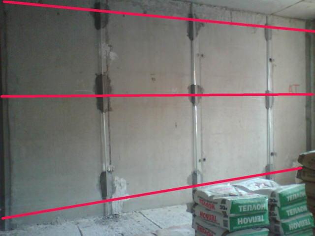 Маяки под штукатурку стен