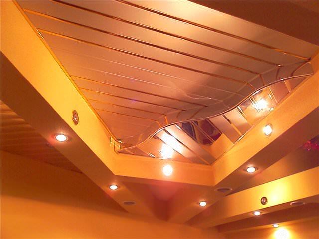 Навесные потолки из пластика