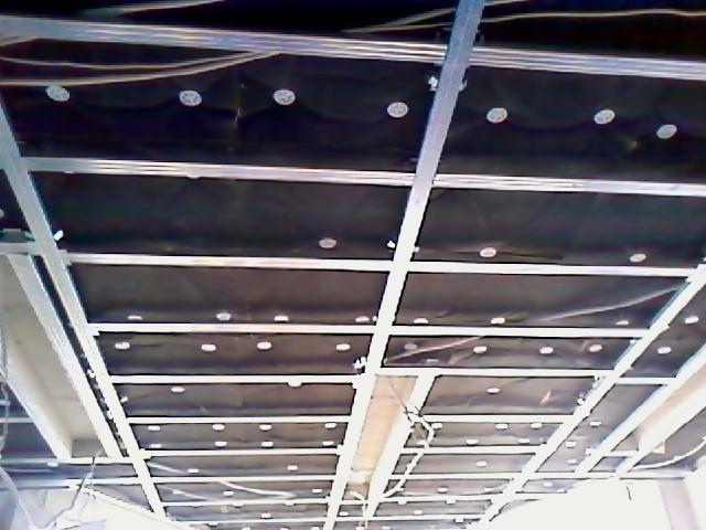 Установка обрешётки на потолок