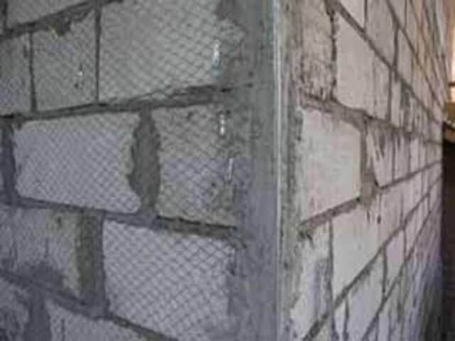 Штукатурка стен по маяками пеноблока
