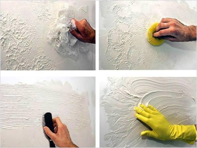 Как своими руками сделать декоративную штукатурку фото