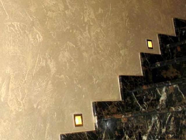 Способ отделки стен при помощи венецианской штукатурки