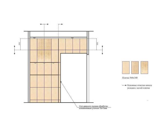 схема укладки плитки в ванную