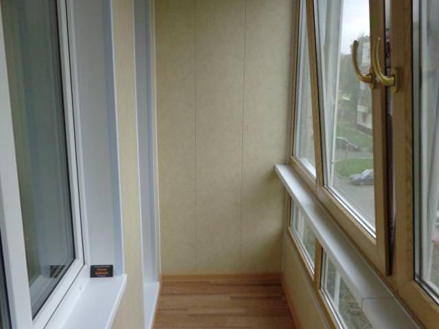 Применение панелей на балконе