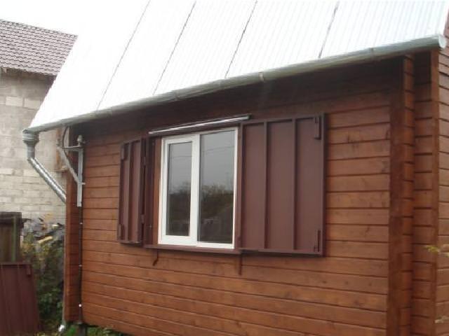 ставни на окна металлические на дачный дом
