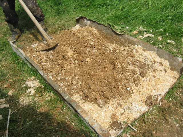 Замес из опилок и глины