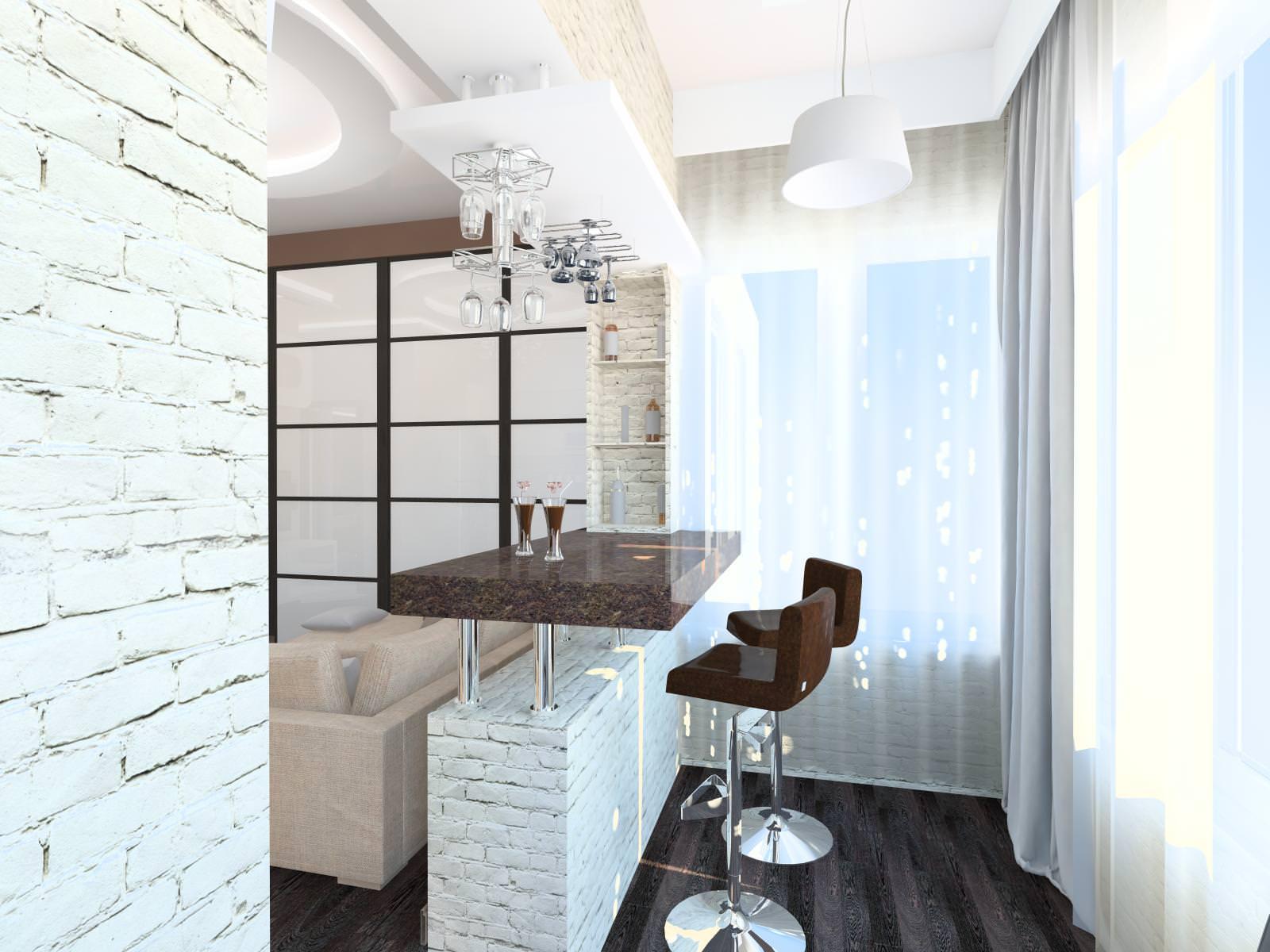 Дизайн кухни с балконом своими руками: фото и видео.