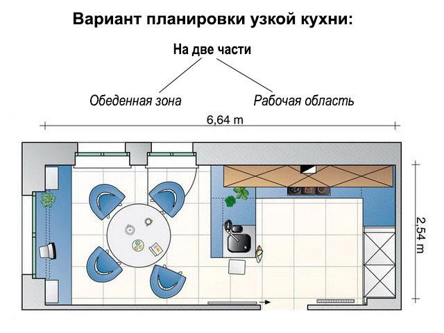 Две части комнаты