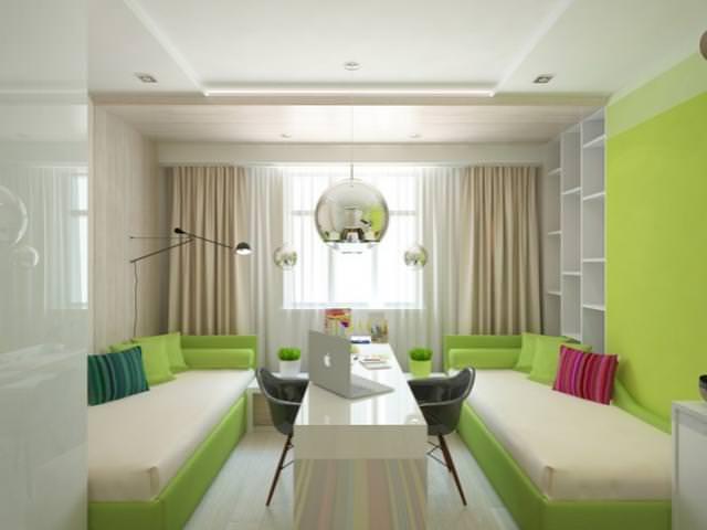 Зеленые и светлые цвета