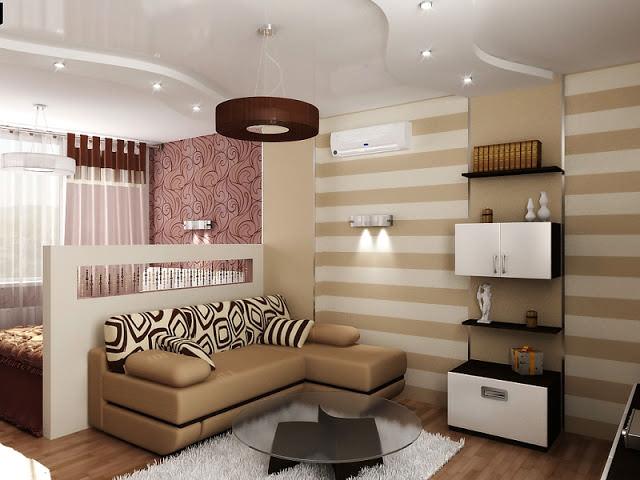 дизайн комнаты 18 кв м спальни гостиной в современном стиле