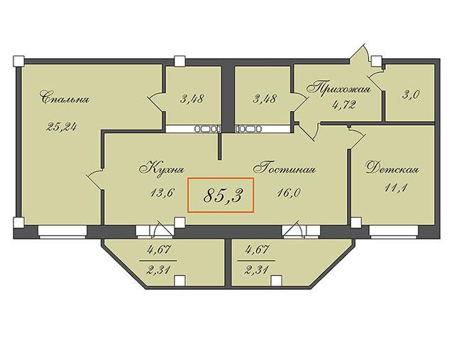 Планировка 4 комнатной квартиры своими руками: фото и видео.